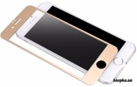 Защитное стекло Utty 3D iPhone 6/6S gold metallik